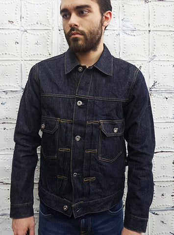 Burgus Plus Natural Indigo Trucker Jacket