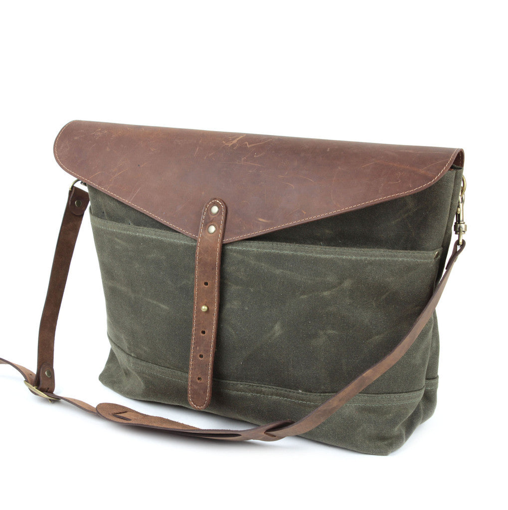 Workers Supply Postman Messenger Bag in Green