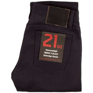 Unbranded 21oz Indigo/Black UB231 Taper Fit Selvedge