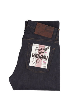Naked & Famous Weird Guy Hanami Selvedge Indigo/Pink