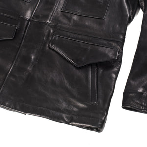 Iron Heart Goatskin M65 Field Jacket Black