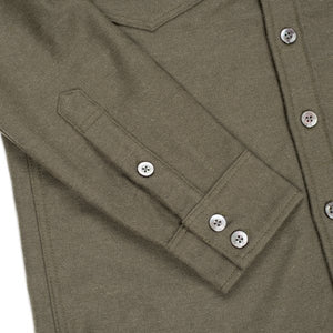 Iron Heart IHSH-163 Work Shirt Olive