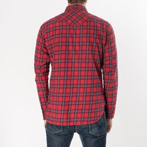 Iron Heart IHSH-179 Red Check 6oz Flannel