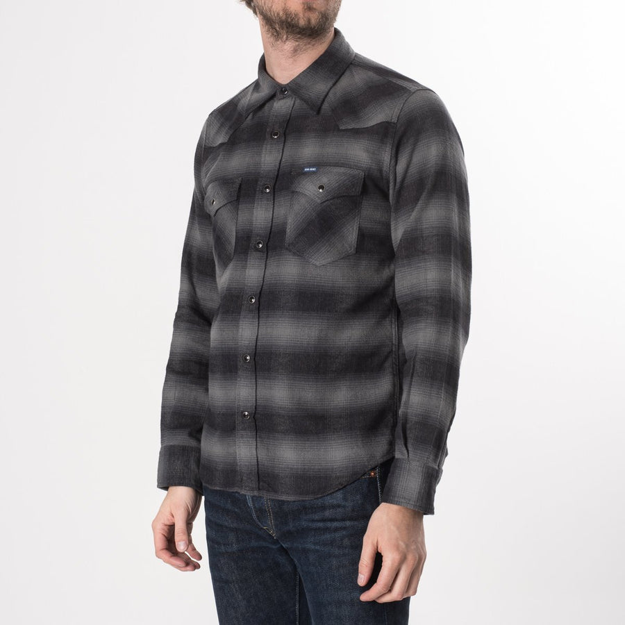 Iron Heart IHSH-195 Grey Flannel Shirt