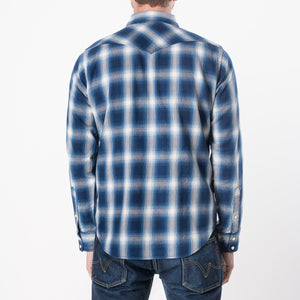 Iron Heart Indigo Check Shirt IHSH-196