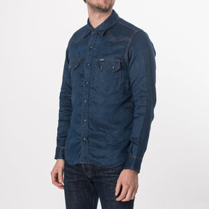 Iron Heart 6.5oz Linen Denim Sawtooth Shirt IHSH-197-LIN