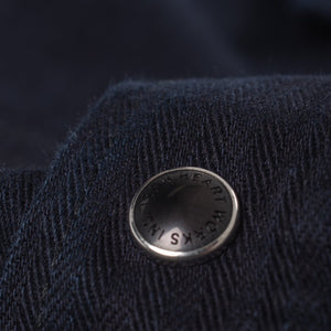 Iron Heart Cotton Linen Indigo Dyed Sawtooth Shirt IHSH-198