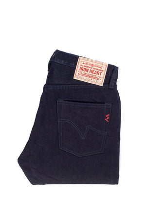 Iron Heart 14oz Selvedge Denim Super Slim Cut Jeans - Indigo/Black