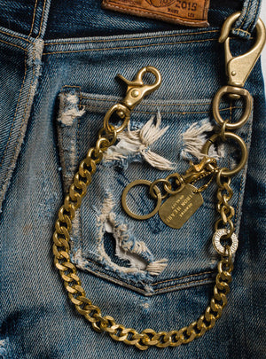 Iron Heart Brass Wallet Chain with Hook