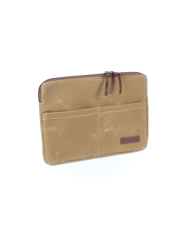 Wood and Faulk Atlas Laptop Sleeve 13 inch High Desert Sage