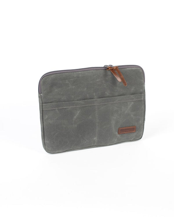 Wood and Faulk Atlas Laptop Sleeve 13 inch North Coast Grey