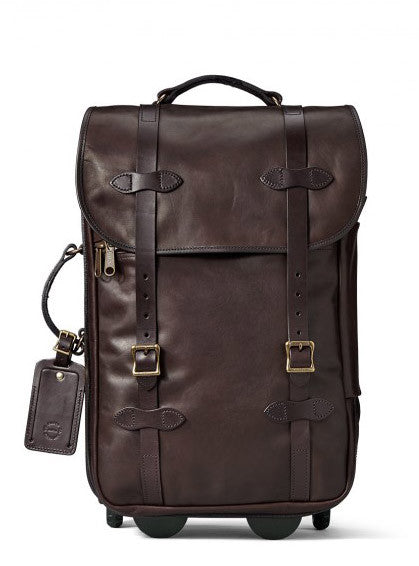 Filson Weatherproof Leather Rolling Carry-On Bag