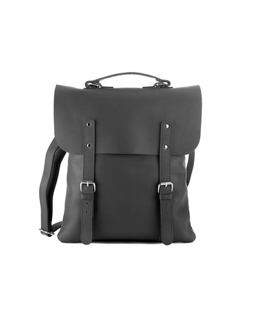 Enter Leather Messenger Tote in Black