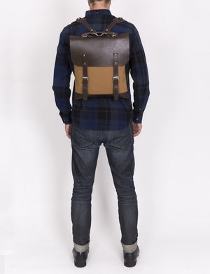 Enter Leather/Canvas Messenger Tote