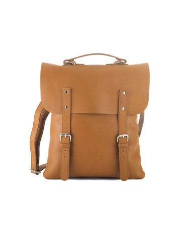 Enter Leather Messenger Tote in Tan