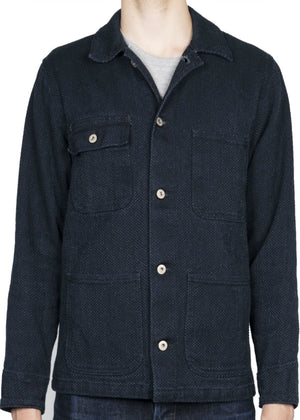 Naked & Famous Chore Coat Indigo Basketweave