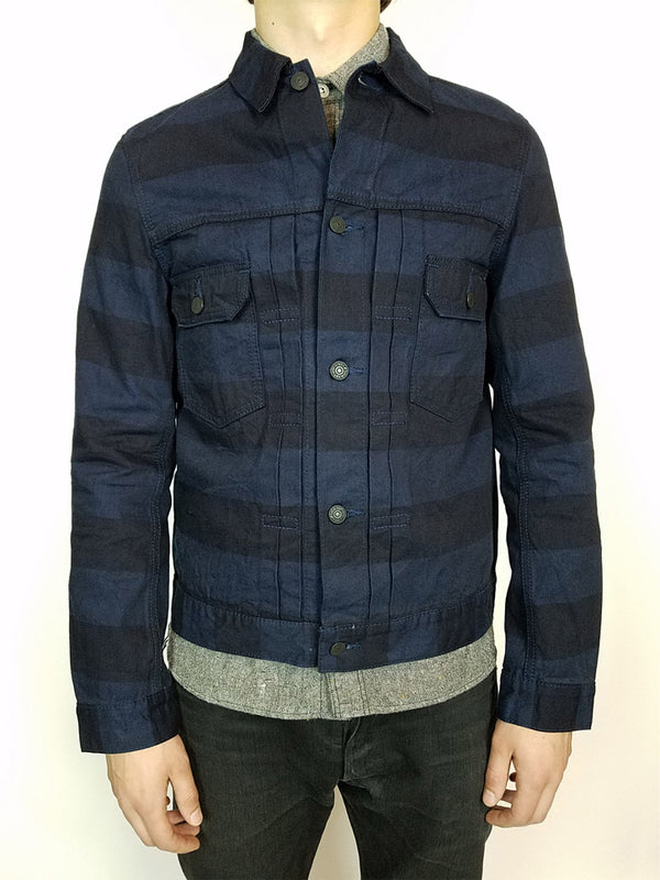 Pure Blue Japan Indigo Border Jacket
