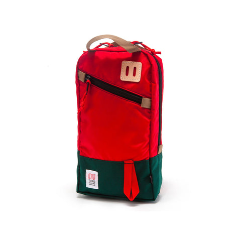 Topo Designs Trip Pack in Red/Forest