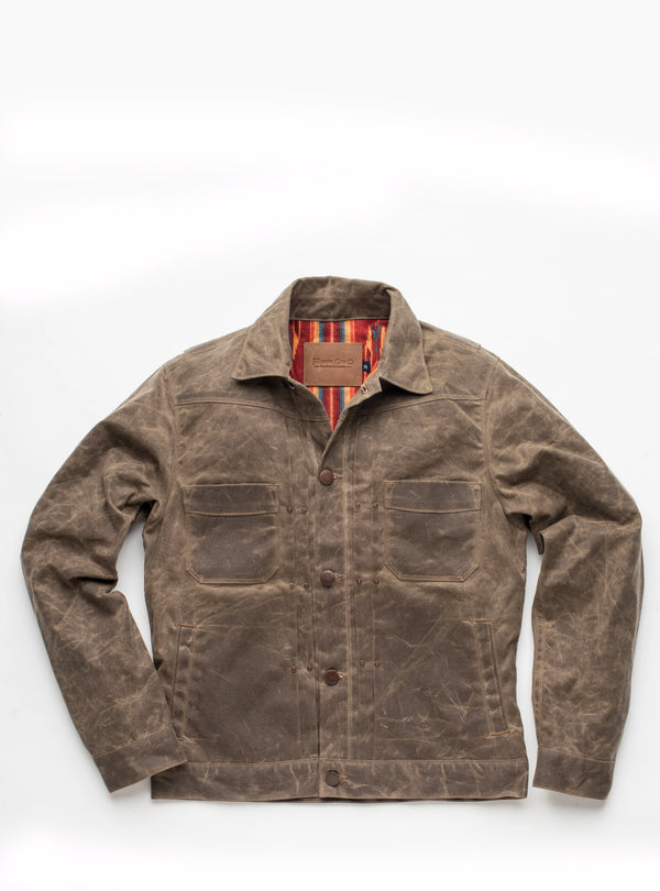 Freenote Cloth Riders Jacket in Taupe