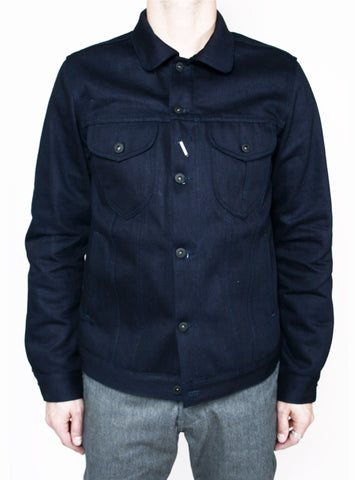 Rogue Territory Type 3 Jacket Double Indigo Slub Blanket lined