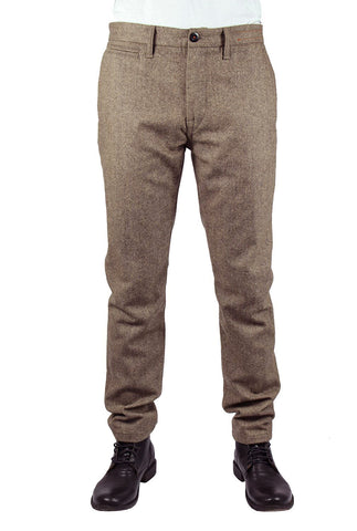 Kato' Brand Wool Speckle Chino Pants Speckle Brown