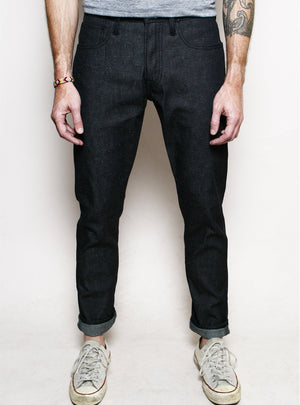 Rogue Territory Strong Taper Neppy Dark Indigo Denim