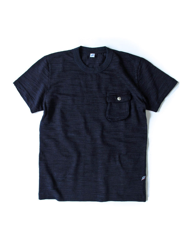 Pure Blue Japan Slub Jersey Pocket T