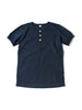 Pure Blue Japan Military Henley Short Sleeve