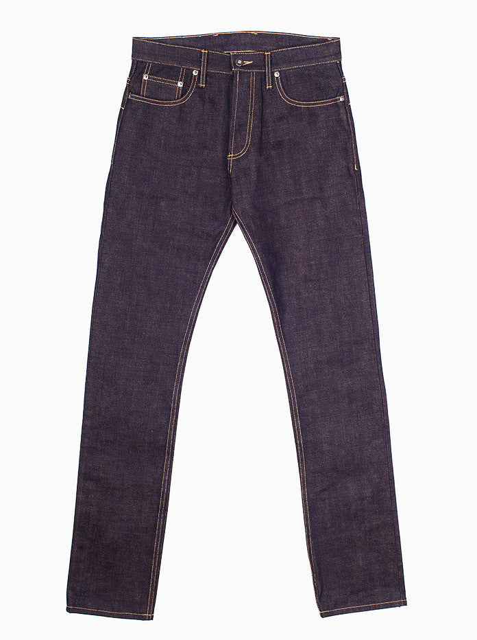 3sixteen ST⁠-⁠140x Slim Tapered Indigo Brown Selvedge 17oz Made in USA Sz 30