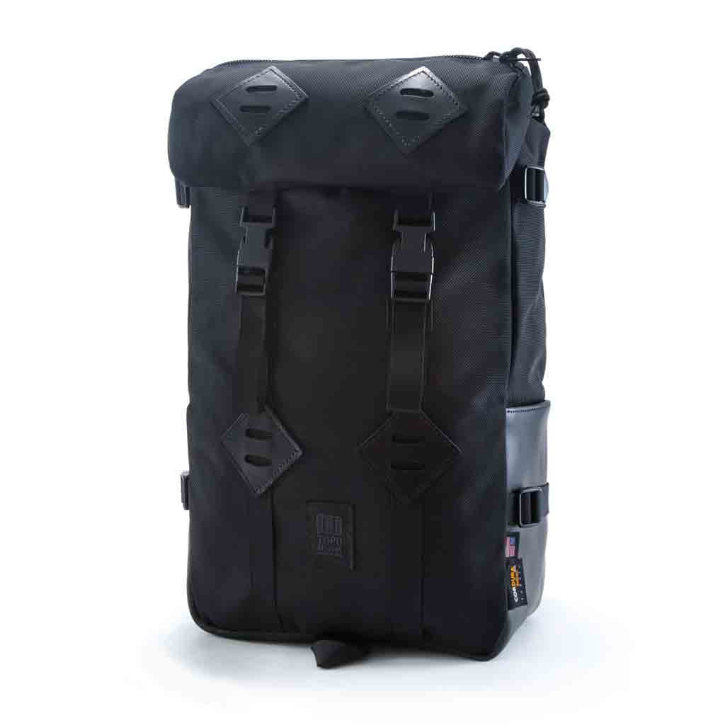 Topo Designs Klettersack Black Ballistic Leather