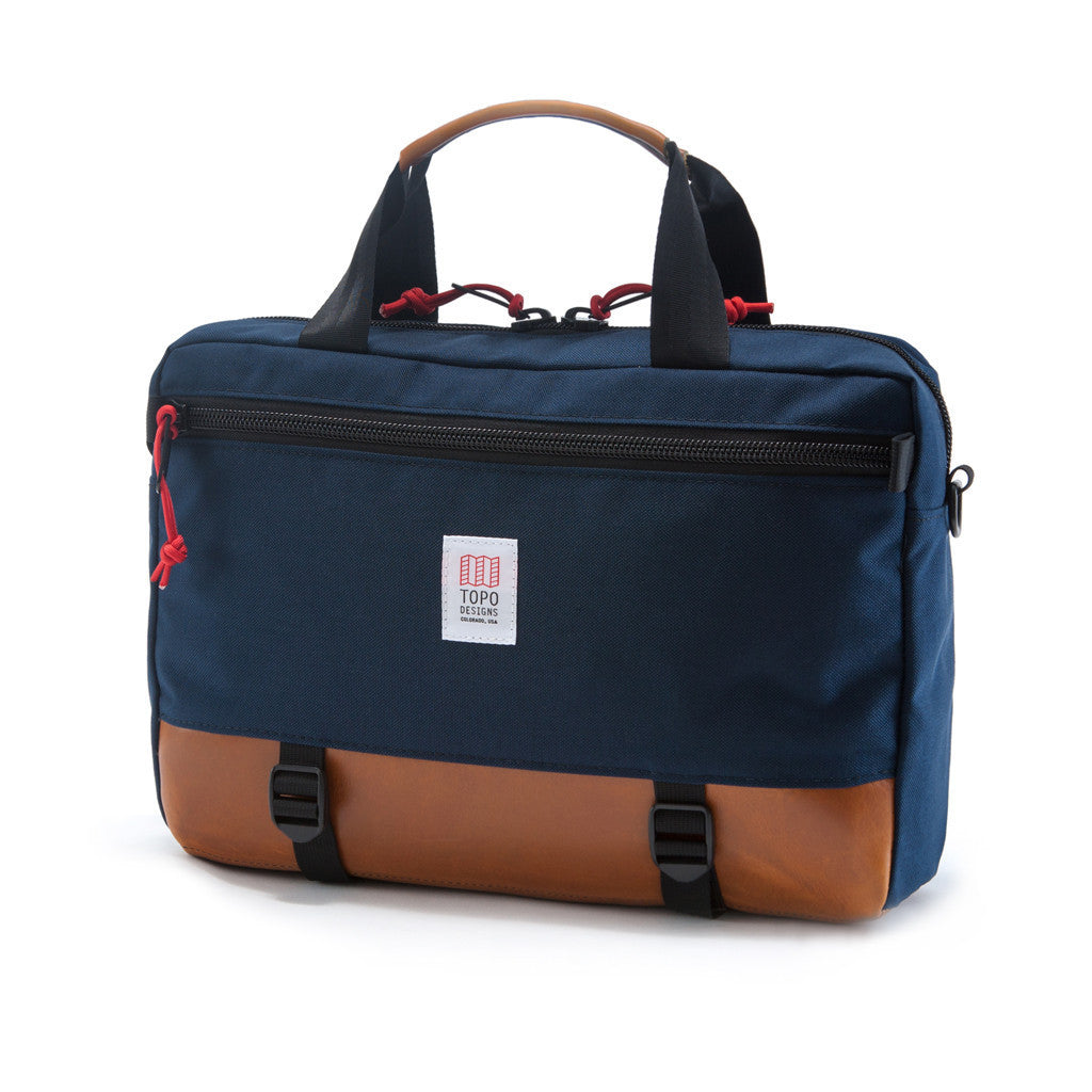 Topo Designs Commuter Briefcase in Navy/Leather