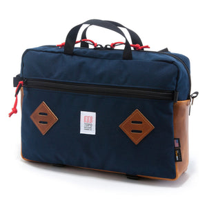 Topo Designs Mountain Briefcase Navy/Leather