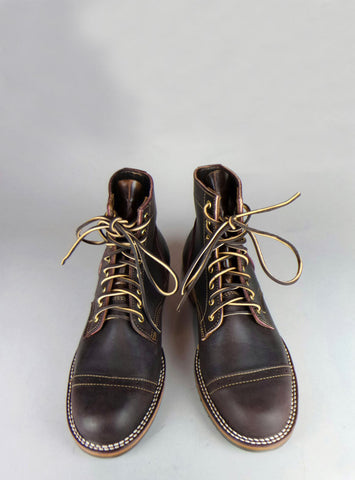 Truman Boots X Mildblend Supply Co in Aubergine Cap-Toe