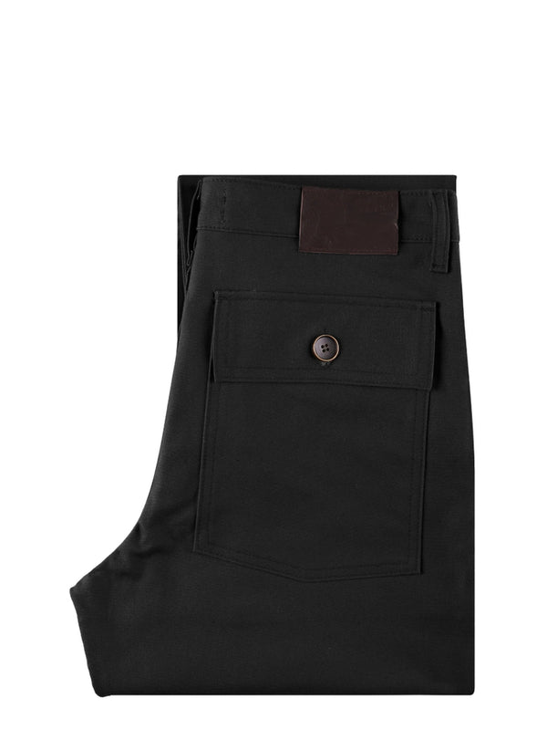 Naked & Famous Work pant black canvas
