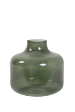 Load image into Gallery viewer, Olive Phiene (small) - Handmade glass vase for bouquets between 35 and 75 euros