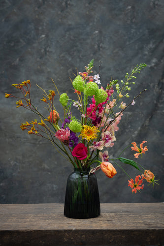 Spring Brights in vase - next day delivery!