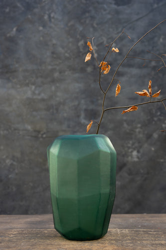 Lady Emerald - Handmade glass vase for bouquets between 45 and 125 euros
