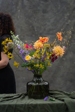Load image into Gallery viewer, Dahlia brights in vase - the best of summer!