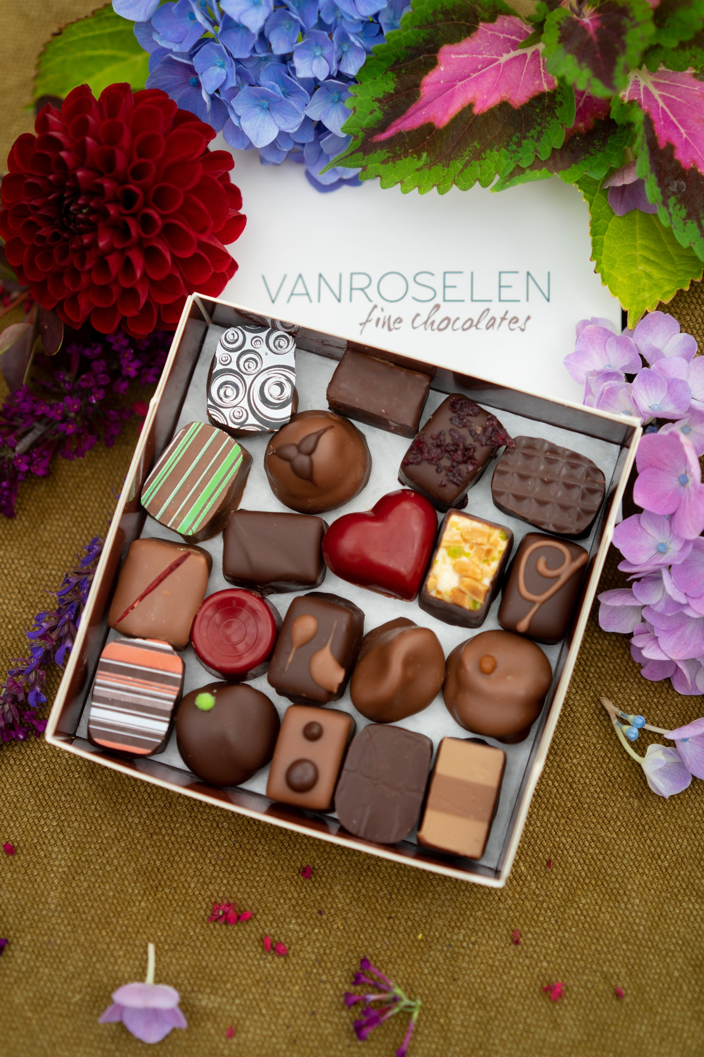 Handmade chocolate bonbons - mixed. Starting from;