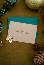 Load image into Gallery viewer, Handwritten Christmas Mini Card - Reindeer