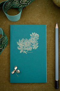 Set of 3 Botanical Notebooks  - gift set with pencil