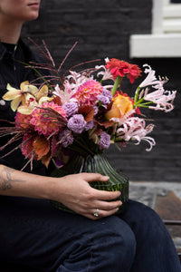 'Feature bouquet in vase' Happy-go-lucky - next day delivery!