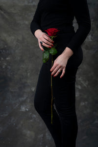Luxury single stem red rose. Starting from;
