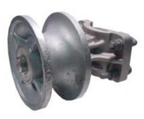 Cast Iron Cantilever Roller 4""