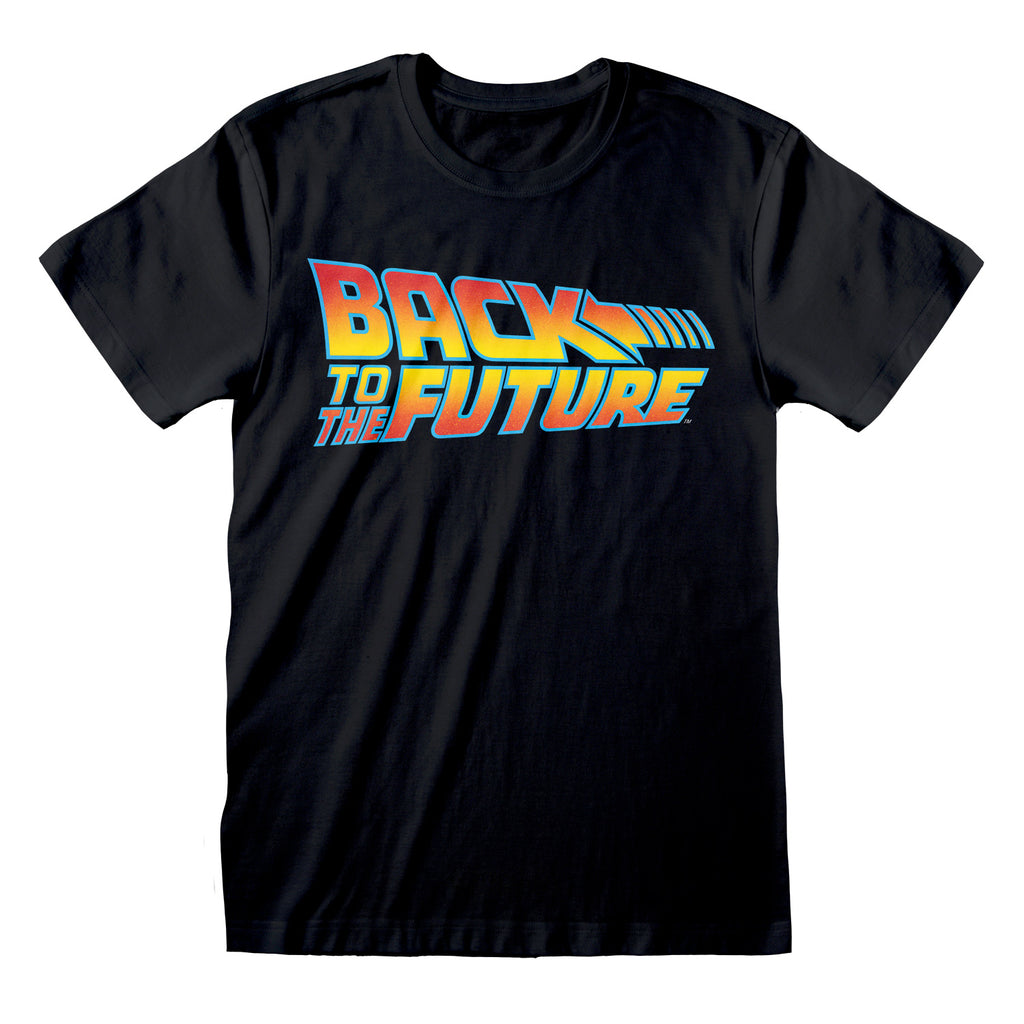 Back To The Future - Vintage Logo T-Shirt Black