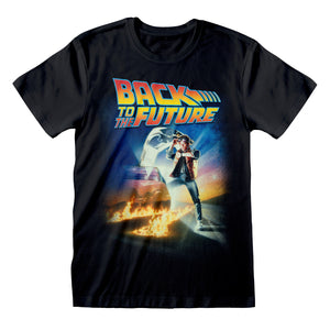 Back To The Future - Poster T-Shirt Black