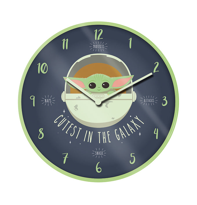 Star Wars - The Mandalorian The Child Clock