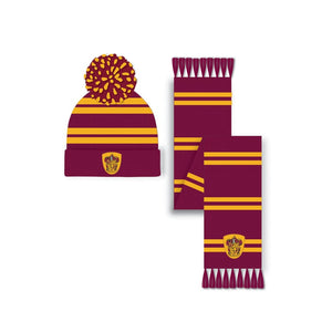 Harry Potter - Gryffinsor Hat and Scarf Set