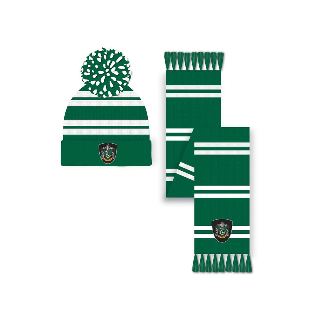 Harry Potter - Slytherin Hat and Scarf Set
