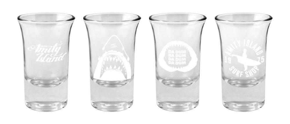 Jaws - Shotglass 4-Pack Logo & Symbols